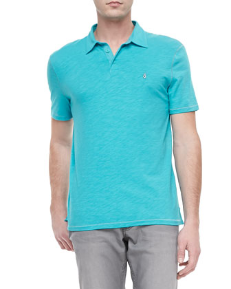 Soft-Collar Peace Sign Polo, Aegean