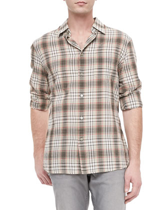 Slim Fit Shirt, Sand