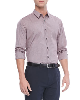 Zack PS Sport Shirt in Keyport, Burgundy