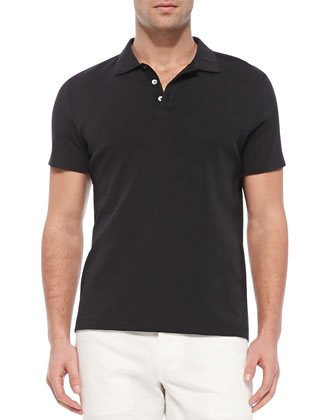 Boyd.Census Short-Sleeve Polo, Black