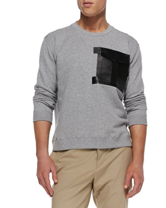 Tape-Pocket Sweatshirt & Stretch-Cotton Chino Pants
