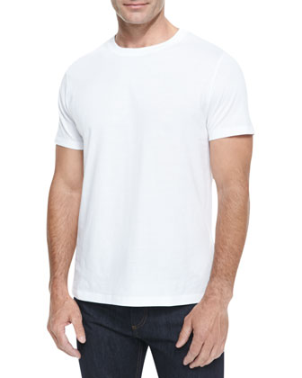 Cotton Jersey Tee, White
