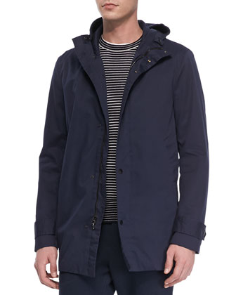 Coated Canvas Long-Sleeve Jacket