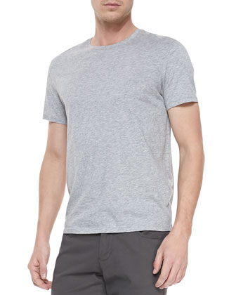 Short-Sleeve Jersey Tee, Gray
