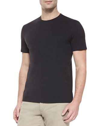 Short-Sleeve Jersey Tee, Black
