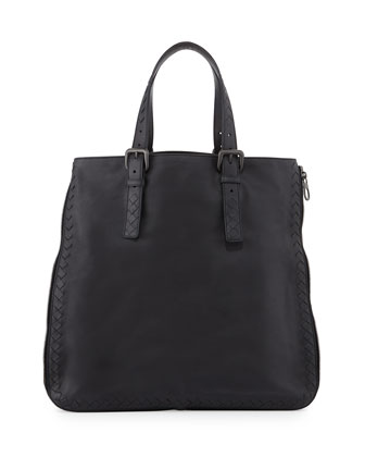 Men's Side-Zip Lightweight Woven Tote Bag