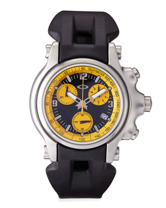 Men's Holeshot Chronograph Watch, Yellow