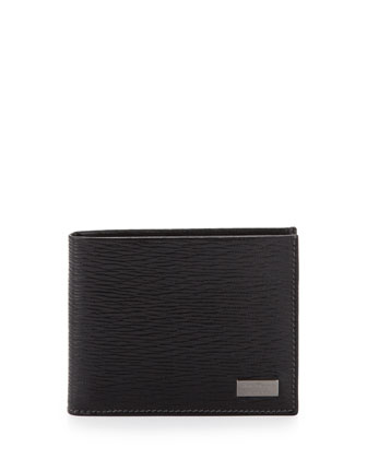 Revival Bi-Fold Leather Wallet, Black