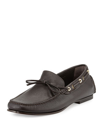 Crawford Pebbled Driving Loafer, Brown