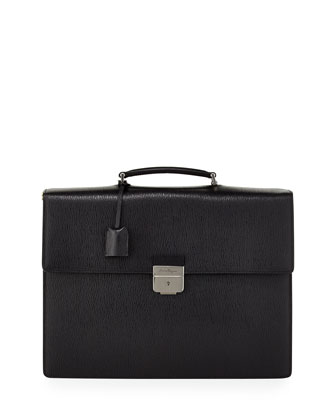 Revival Gusset Briefcase, Black