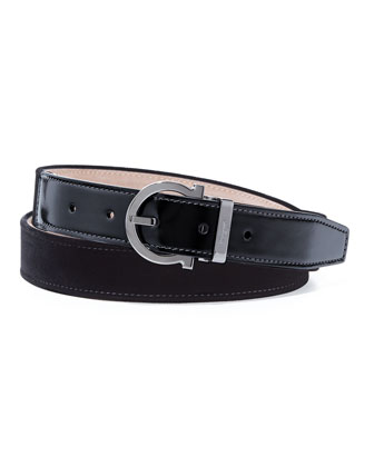 Formal Velvet Party Belt, Black