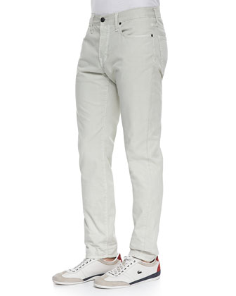 5-Pocket Twill Pants, Stone