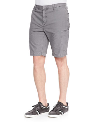 Welt-Cargo Pocket Shorts, Gray