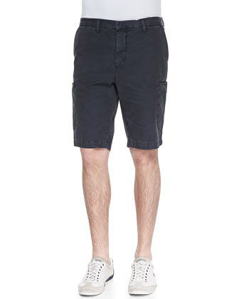 Welt-Cargo Pocket Shorts, Navy