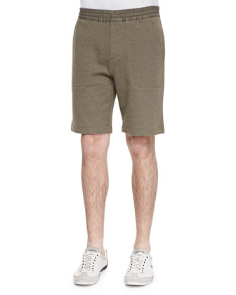 French-Terry Sweat Shorts, Moss