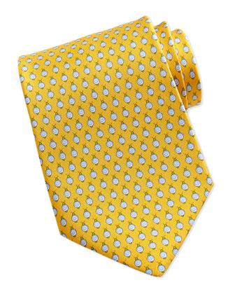 Snail Pattern Silk Tie, Yellow