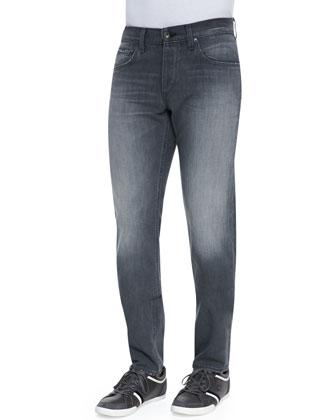 Slub-Knit Basic Henley and Pullman Skinny Jeans