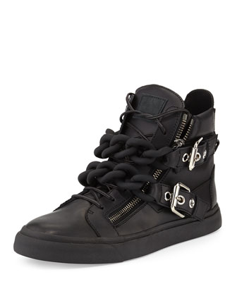 Men's Double-Chain High-Top Sneaker