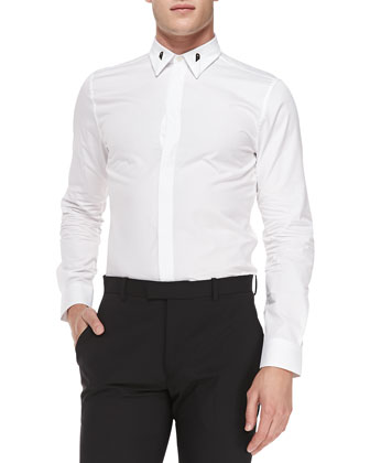 Colorblock-Collar Shirt