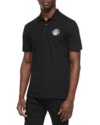 Rottweiler-Patch Polo, Black