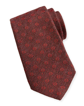 GG Print Woven Tie, Red