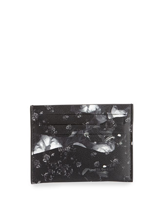 Camo Rose Cardholder, Black/White