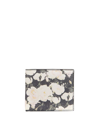 Camo Rose Billfold Wallet, Black/White