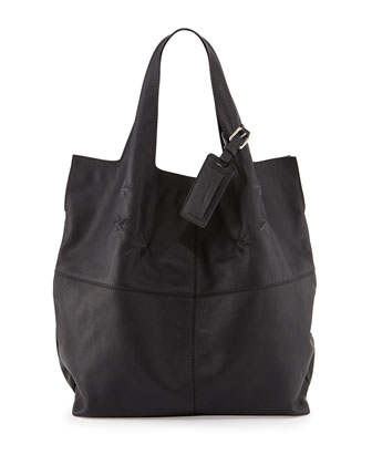 George V Star-Embossed Tote Bag, Black