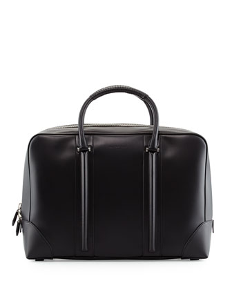 Men's Leather Briefcase, Black