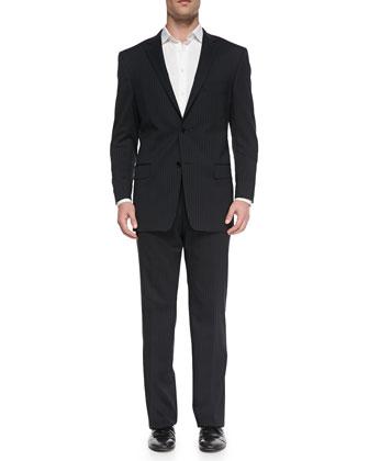 City-Fit 2-Button Wool Suit