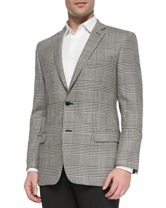 Herringbone 2-Button Trend-Fit Jacket
