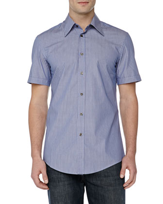 Trend-Fit Dress Shirt, Blue