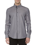 Trend-Fit Sport Shirt, Steel
