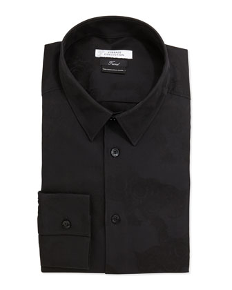 Slim Fit Dress Shirt, Black