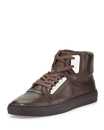 Hexy Metal-Plate High-Top Sneaker