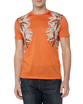 Versace Graphic Tee, Orange
