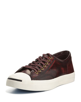 Jack Purcell Marbled Leather Sneakers, Red