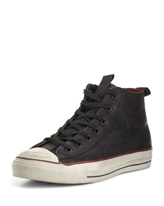 John Varvatos Leather High-Top Sneaker