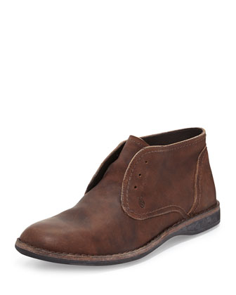 Hipster Laceless Chukka Boot, Dark Brown