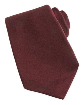 Cashmere/Silk Woven Tie, Burgundy