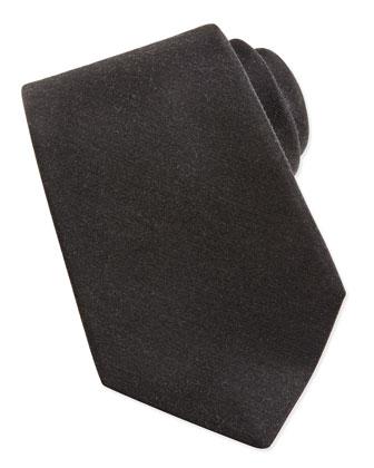 Cashmere/Silk Woven Tie, Gray