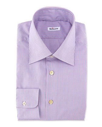 Shadow Micro-Check Dress Shirt, Pink