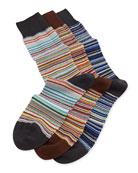 Core Stripe 3-Pair Sock Set, Multi