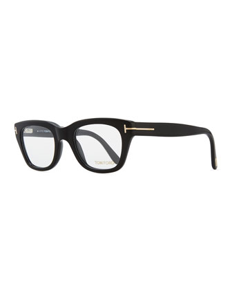 Large Acetate Frame Glasses, Black