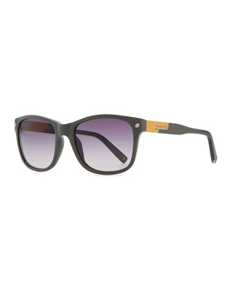 Squared Acetate Sunglasses, Gray