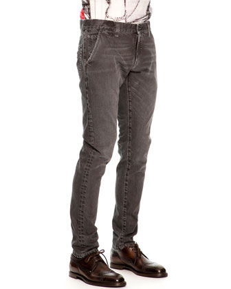 Faded & Distressed Jeans, Black