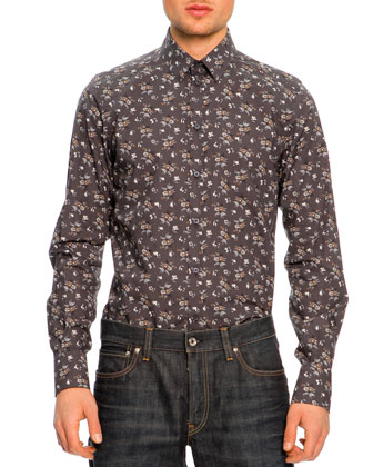 Leather Bomber Jacket, Button-Down Floral-Print Shirt & 16 Classic Denim Jeans