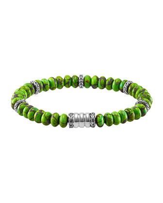 Men's Mohave Bedeg Beaded Bracelet, Green