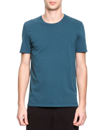 Short-Sleeve Crewneck Tee, Teal