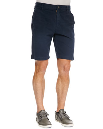 Twill Chino Shorts, Navy